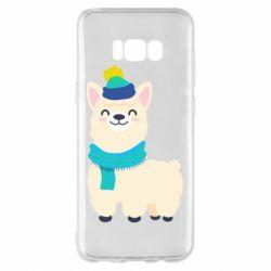 Чехол для Samsung S8+ Llama in a blue hat