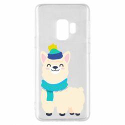 Чехол для Samsung S9 Llama in a blue hat