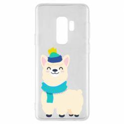 Чехол для Samsung S9+ Llama in a blue hat