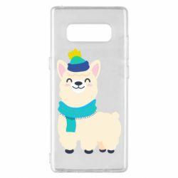 Чехол для Samsung Note 8 Llama in a blue hat