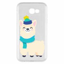 Чехол для Samsung A7 2017 Llama in a blue hat