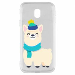Чехол для Samsung J3 2017 Llama in a blue hat