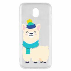 Чехол для Samsung J5 2017 Llama in a blue hat