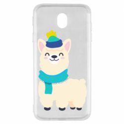 Чехол для Samsung J7 2017 Llama in a blue hat
