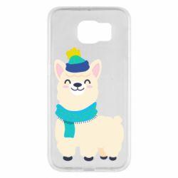 Чехол для Samsung S6 Llama in a blue hat