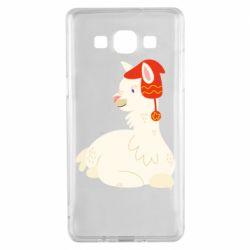 Чехол для Samsung A5 2015 Llama in a red hat
