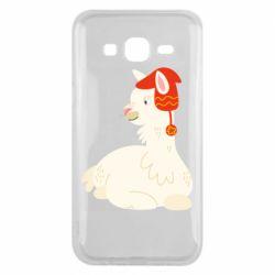 Чехол для Samsung J5 2015 Llama in a red hat