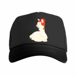 Кепка-тракер Llama in a red hat