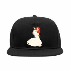 Снепбек Llama in a red hat