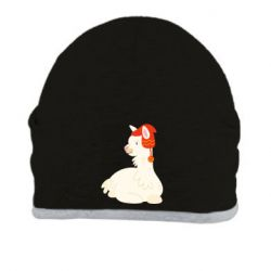 Шапка Llama in a red hat