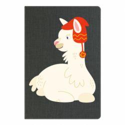 Блокнот А5 Llama in a red hat