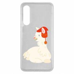 Чехол для Xiaomi Mi9 SE Llama in a red hat