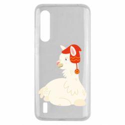 Чехол для Xiaomi Mi9 Lite Llama in a red hat