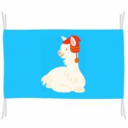 Флаг Llama in a red hat