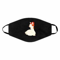 Маска для лица Llama in a red hat