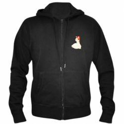 Мужская толстовка на молнии Llama in a red hat