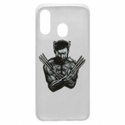 Чехол для Samsung A40 Logan Wolverine vector