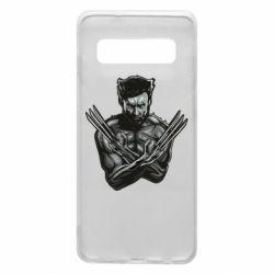 Чехол для Samsung S10 Logan Wolverine vector