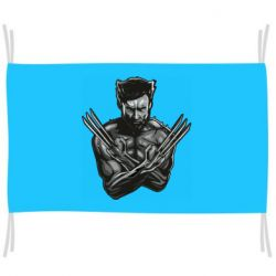 Флаг Logan Wolverine vector