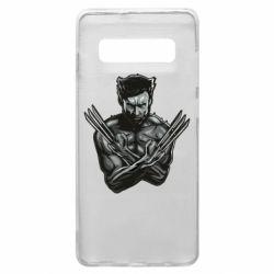 Чехол для Samsung S10+ Logan Wolverine vector