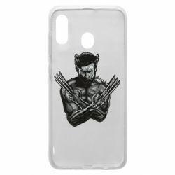 Чехол для Samsung A20 Logan Wolverine vector