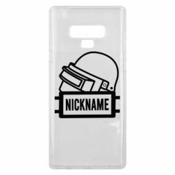 Чехол для Samsung Note 9 Logo and helmet