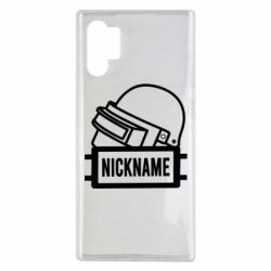 Чехол для Samsung Note 10 Plus Logo and helmet