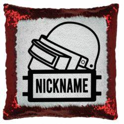 Подушка-хамелеон Logo and helmet
