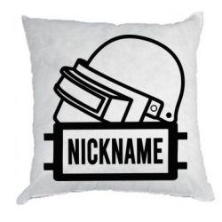 Подушка Logo and helmet