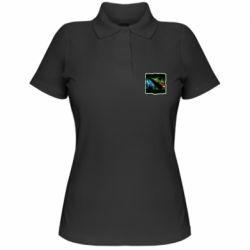 Женская футболка поло Logo and heroes