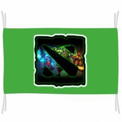 Флаг Logo and heroes