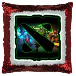 Подушка-хамелеон Logo and heroes