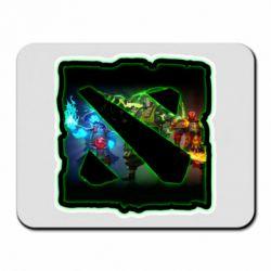 Коврик для мыши Logo and heroes