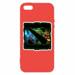 Чехол для iPhone5/5S/SE Logo and heroes