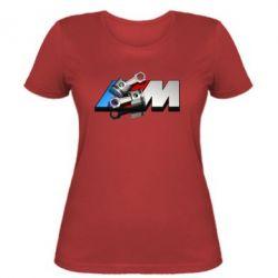 Женская футболка Logo BMW  3