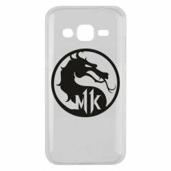 Чехол для Samsung J2 2015 Logo Mortal Kombat 11