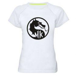 Женская спортивная футболка Logo Mortal Kombat 11