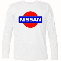 Футболка с длинным рукавом Logo Nissan - FatLine