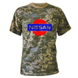 Камуфляжная футболка Logo Nissan - FatLine