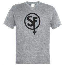 Чоловіча футболка з V-подібним вирізом Logo Sally Face