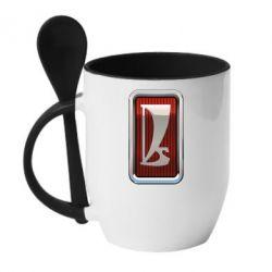 Кружка з керамічною ложкою Logo