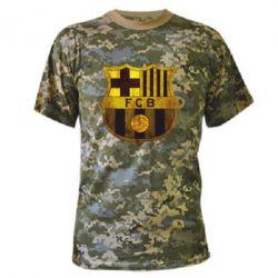 Камуфляжная футболка Логотип Барселоны - FatLine