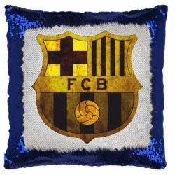 Подушка-хамелеон Логотип Барселони