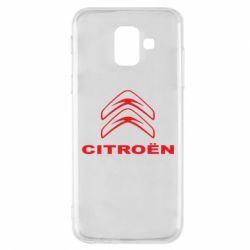 Чохол для Samsung A6 2018 Логотип Citroen