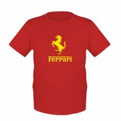 Детская футболка логотип Ferrari - FatLine
