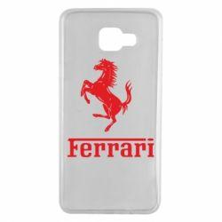Чехол для Samsung A7 2016 логотип Ferrari