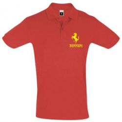 Футболка Поло логотип Ferrari - FatLine