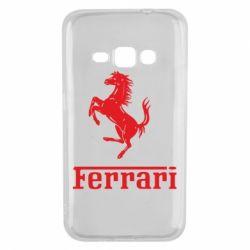Чехол для Samsung J1 2016 логотип Ferrari