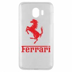 Чохол для Samsung J4 логотип Ferrari