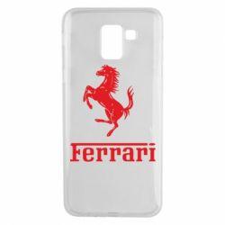 Чехол для Samsung J6 логотип Ferrari